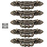 5 Piezas Tirador de Mueble de Aleación de Zinc Antiguo, Mango de Aleación de Zinc Antiguo, Tiradores Para Cajones Vintage de Bronce Clásico Tiradores Decorativos Para Muebles, Cajones y Puertas
