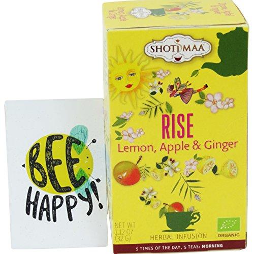 Shoti Maa - Rise - Infusion Orgánica de Té con Limón, Manzana y Jengibre - 16 filtros