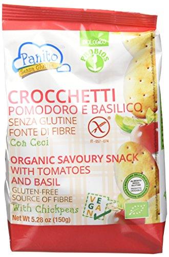 Probios Crocchetta Pomodoro e Basilico - Confezione da 8 x 150 g, Senza glutine