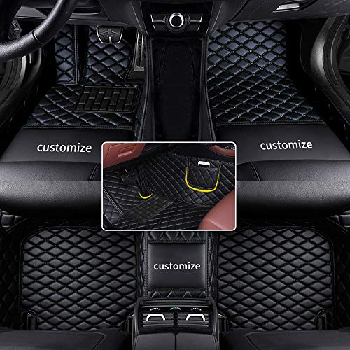 Muchkey car Floor Mats fit for 95% Custom Style Luxury Leather All Weather Protection Floor Liners Full car Floor Mats Black