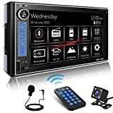 P.L.Z MP-900 Car Entertainment Multimedia System – Double Din HD Capacitive Touch Monitor Car Stereo - 10 Band EQ for Outstanding Sound – MP5 Player Bluetooth Car Radio Receiver