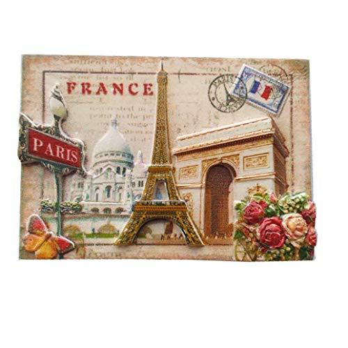3D-Kühlschrankmagnet, Motiv: Paris Frankreich, Souvenir, Geschenk, Heim- und Küchendekoration, Magnetaufkleber, Paris, Frankreich, Kühlschrankmagnet-Kollektion