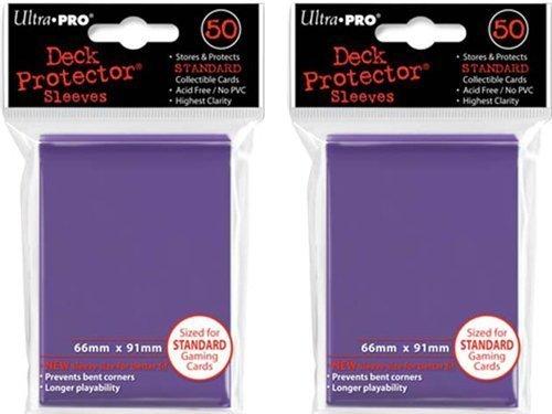 (100x) Ultra PRO Purple Deck Protectors Sleeves Standard MTG Colors