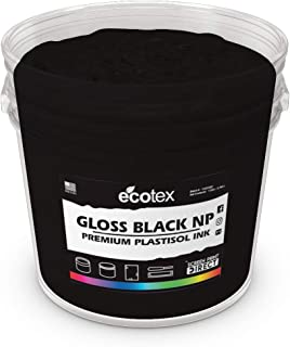 Ecotex Gloss Black NP Plastisol Ink for Screen Printing - Non Phthalate Formula - All Sizes (Pint)