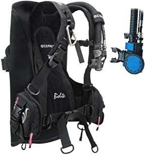 New Oceanic BioLite Travel Scuba Diving BCD with Air XS 2 Alternate Air Inflator Regulator Installed on BCD - Pink (Size X-Small)