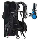 Oceanic New BioLite Travel Scuba Diving BCD with Air XS 2 Alternate Air Inflator Regulator Installed on BCD - Pink (Size Small)