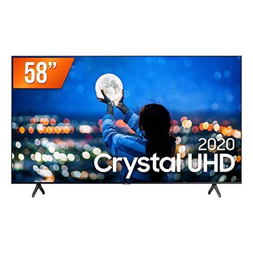 "Smart TV LED 58"" UHD 4K Samsung UN58TU7000GXZD, Processador Crystal 4K, HDR, Borda Infinita, Controle Remoto Único, Bluetooth, Visual Livre de Cabos"