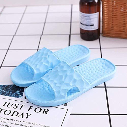 KKGASSAB Mujeres/Hombre en Zapatillas Soft Nonslip, Summer Home Slippers, Ladies Bath Nonslip, Bombellight Blue_5.5/6, Anti resbalón Zapatos para Caminar Flip Flobs (Color : Light Blue, Size : 9/9.5)