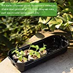 3-pack seed starting kit window garden greenhouse, adjustable humidity dome seed starter tray, mini propagator kit… 11 : reusable seed starter kit, creates growth environment needed for reliable seed germination. The holes designed make plant absorb water quickly and evenly : the transparent greenhouse cover can provide warmth and humidity. When the growth height of seedling exceeds 0. 39 inches, airflow is needed to accelerate the growth rate, so the cover provides a better growth environment and space : insert seed or cuttings and keep them moist in warm greenhouse. After the seeds grow up, you can even move the entire seed drive to an outdoor patio, deck planter or backyard garden. It is very suitable for people of any skill level, including children