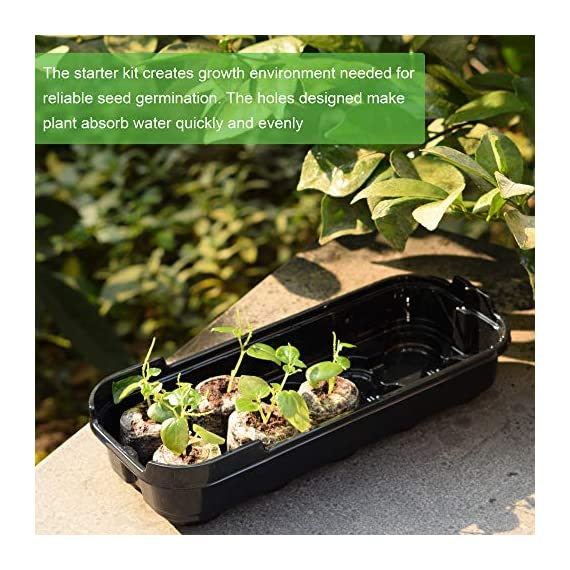 3-pack seed starting kit window garden greenhouse, adjustable humidity dome seed starter tray, mini propagator kit… 5 : reusable seed starter kit, creates growth environment needed for reliable seed germination. The holes designed make plant absorb water quickly and evenly : the transparent greenhouse cover can provide warmth and humidity. When the growth height of seedling exceeds 0. 39 inches, airflow is needed to accelerate the growth rate, so the cover provides a better growth environment and space : insert seed or cuttings and keep them moist in warm greenhouse. After the seeds grow up, you can even move the entire seed drive to an outdoor patio, deck planter or backyard garden. It is very suitable for people of any skill level, including children