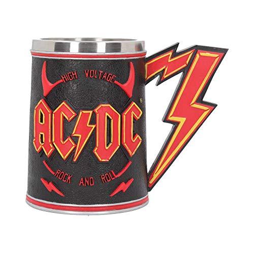 AC DC - Boccale da birra 3D con logo ad alta tensione, 500 ml