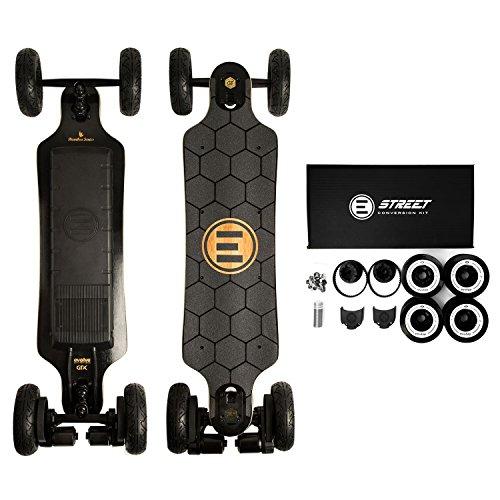 Evolve Skateboards – Bamboo GTX Street AND All-Terrain Electric Longboard Skateboard – 31 Mile...