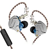 KZ ZSN PRO in Ear Earphones Yinyoo Balanced Armature Driver Hybrid Technology 1DD 1BA Earphone Earbuds Comfortable Ear Noise Cancelling Headphones for Cell Phone Android Women Men Girl(Blue with mic)