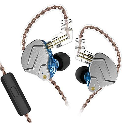 KZ ZSN PRO Fone Intra Auricular Monitor/Retorno de Palco Dual drivers (COM MICROFONE) Azul