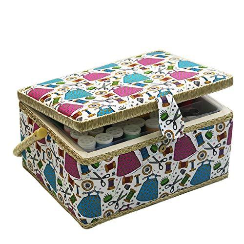 D&D Boîte à couture - Organisateur de couture pour la maison et l'usage quotidien L Vert