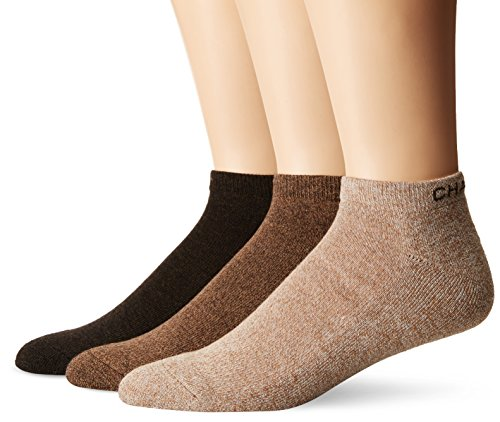 Chaps Men's Assorted Marl Low Cut Casual Socks (3 Pack), khaki, Shoe Size: 6-12