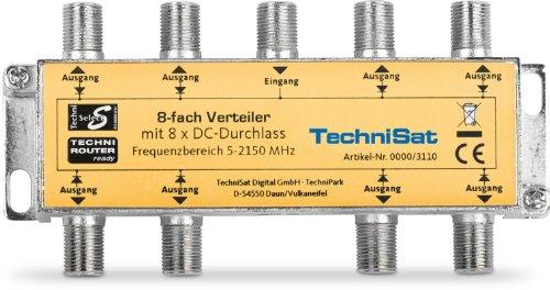 TechniSat 8-Wege Sat-Verteiler (Breitbandig, zur Verteilung der ersten Sat-Zwischenfrequenz)