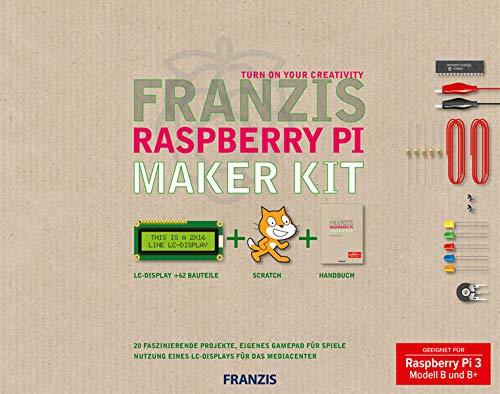 FRANZIS Raspberry Pi Maker Kit: 20 Faszinierende Projekte, eigenes Gamepad für Spiele. Geeignet für Raspberry Pi 3 Modell B und B+: Machen Sie es ... Projekte, die Sie nicht mehr loslassen