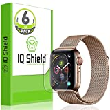 IQ Shield Screen Protector Compatible with Apple Watch Series 5 (44mm)(6-Pack) LiquidSkin Anti-Bubble Clear Film
