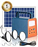 Teioe Solar Generator, 84Wh Portable Power Station with 18W Solar Panel, Outdoor Generator with Flashlights, Camp Lamps with Battery, USB DC Outlets, for Home Emergency, Camping, Fishing, Hunting
