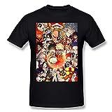 My Hero Academia Soft Mens Tops Camisetas de manga corta Negro