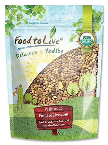 Organic Salad Mix of Sprouting Seeds, 8 Ounces — Non-GMO Broccoli, Radish, Clover, Alfalfa. Rich Germination Rate, Non-Irradiated, Kosher, Vegan Superfood, Bulk, Rich in Sulforaphane