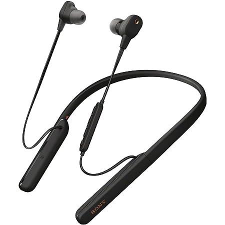 ソニー ワイヤレスノイズキャンセリングイヤホン WI-1000XM2 : ハイレゾ対応 / Amazon Alexa搭載 / bluetooth / 最大10時間連続再生 / DSEE搭載 ネックバンド型 ノイキャンプロセッサーQN1搭載 ハードケース付属 2019年モデル / マイク付き/ 360 Reality Audio認定モデル ブラック WI-1000XM2 BM