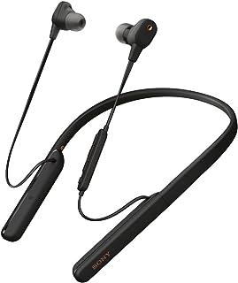 Sony 索尼 无线降噪耳机 WI-1000XM2:支持高分辨率 / 搭载Amazon Alexa/蓝牙/最长10小时连续播放/搭载DSEE的颈带型 搭载Neking rose器QN1 附带硬质壳 2019年款 / 带麦克风 / 黑色WI-10...