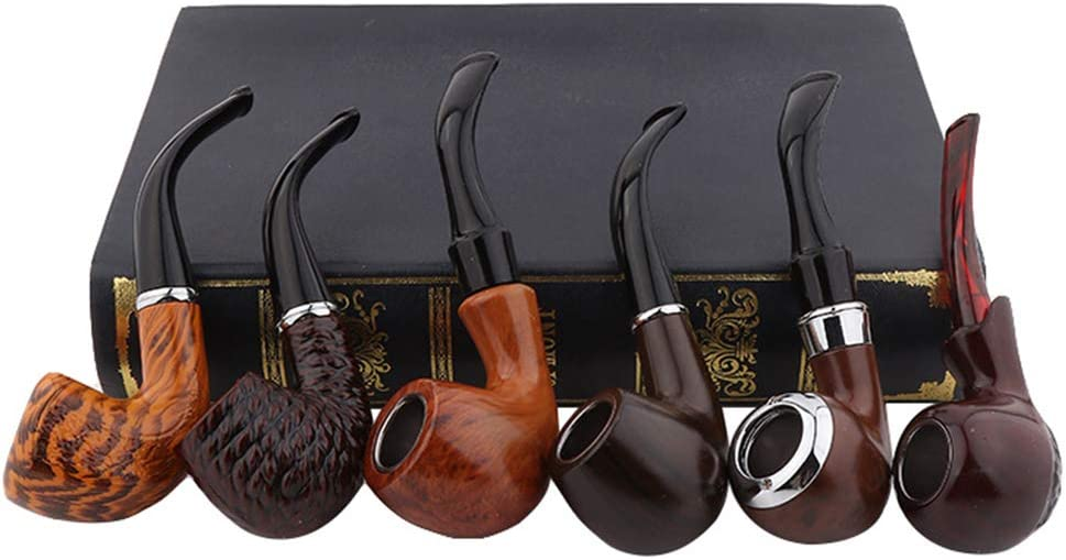 Ktong Wooden Tobacco Pipe Smoking 6 Ranking Daily bargain sale integrated 1st place of C Hand Set