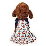 Ropa para mascotas con estampado de sandía Hawkimin, ropa para mascotas, chaleco clásico para perros, camiseta, ropa de manga corta, ropa de verano, ropa para perros large Blanco