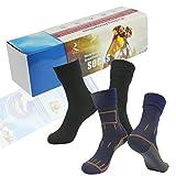 Waterproof Breathable Socks, RANDY SUN Men Women Crew Sock Great For Work Boots, Camping, Travel Black&Navy Blue Size M