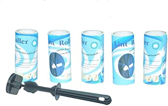 Bulfyss Plastic Sticky Lint Roller Hair Remover Cleaner Set of 5 Rolls 150 Sheets, 30 Sheets Each roll Lint Roller Remover.