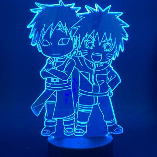 Japanische Anime Cute Gaara Figur 3D Tischlampe Kinder Spielzeug Geschenk Geschenk Kinder Kind Schlafzimmer Dekoration Sensor Tisch Led Nachtlicht