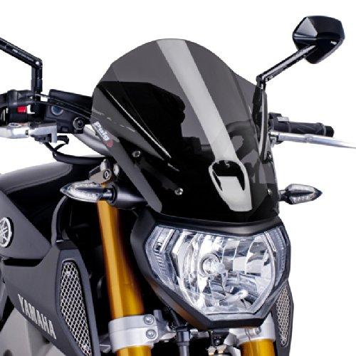 Puig 6861F Dark Smoke WindShield (New Gen Touring Yamaha Fz-07 14
