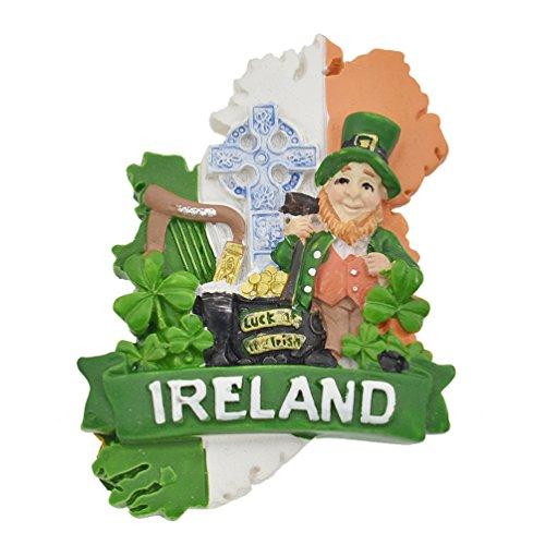 Kesheng Imán de nevera de Irlanda con recuerdo de la suerte de los irlandeses para decoración del hogar y la...