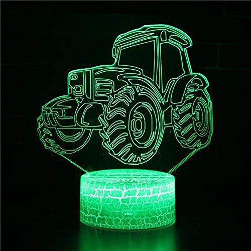 Cartoon Sports car Speed F1 Truck Bus Tractor Vehicle 3D Table Lamp Night Light Home Decor boy Toy Christmas Kids Gift