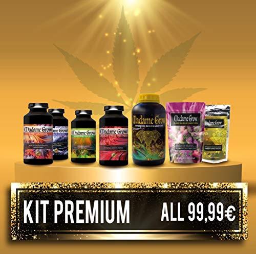 MADAME GROW ⭐️⭐️⭐️⭐️⭐️ KIT Premium 7 Pack Folgen Sie dem gesamten Sortiment der besten Bio-Produkte für den gesamten Zyklus Ihrer Marihuana Cannabis Pflanze Sparen Sie mehr als 40{f1cf8b07ae2b0402dcf94eff7d4ba016e24e1329d4ec6d4cc7314d2a7a8f7263}