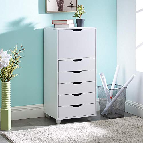 Naomi Home Carly 6-Drawer Office Storage Cabinet White
