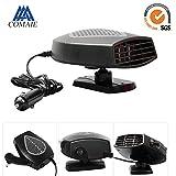 Ventilateur de voiture 12V avec manche pivotant à 360° pour chauffage, dégivrage et désembuage rapide de pare-brise fonctionnant au système Plug and Play