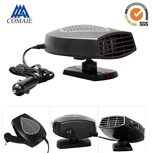 Ventilateur de voiture 12 V avec manche pivotant à 360° pour chauffage , dégivrage et désembuage rapide de pare-brise fonctionnant au système Plug and Play