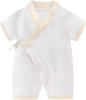 neveraway Kids Short Sleeve Breathable Comfy Cute Creeper Print Romper