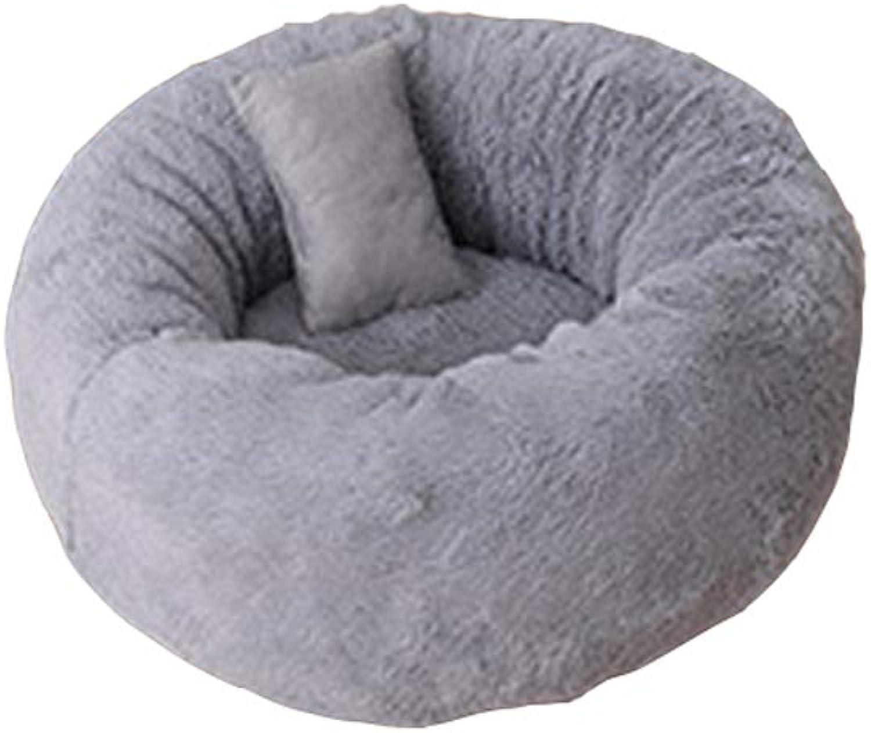 Guofangfang Cat Litter, Pet Milk Cat Litter Winter Warm Pet Nest Length Plush Teddy Puppy Nest (color   C, Size   M)