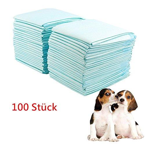 Blackpoolal 60 x 45 cm Puppy Training Pads Windeln Unterlagen Hund Saugstarke Welpenunterlage Pad Für Puppy Hundeerziehung und Welpenerziehung 100 Stück