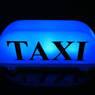 Blue Taxi Top Light New LED Roof Taxi Sign 12V with Magnetic Base Taxi Dome Light