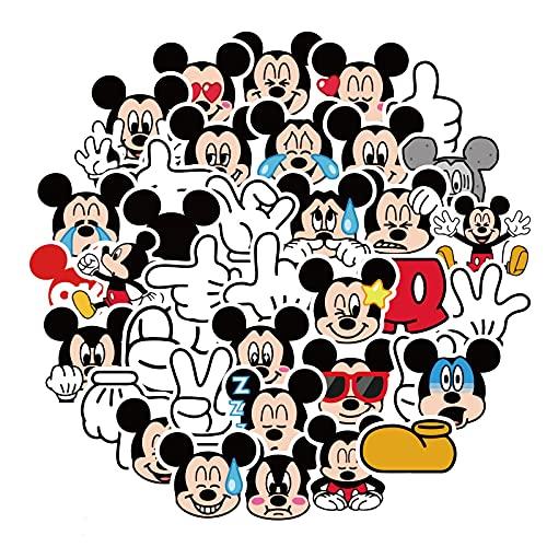 LVLUO Etiqueta engomada Linda del Ordenador portátil de Mickey Mouse de la Historieta, Etiqueta engomada de la Guitarra de la Taza del Agua del Equipaje del teléfono de Mickey 40