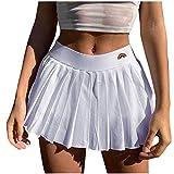 minjiSF Minifalda sexy para mujer, cintura alta, estampado de arco iris, cremallera lateral, sexy, versátil Blanco M