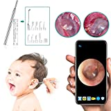 Earwax Removal Tool, Pumoes Earwax Remover Endoscope 3.9mm Visual Thin Lens HD Ear Camera with 6 LED Lights Ear Scope Wax Cleaning Kits for Adults Kids for Android, Window,Mac PC