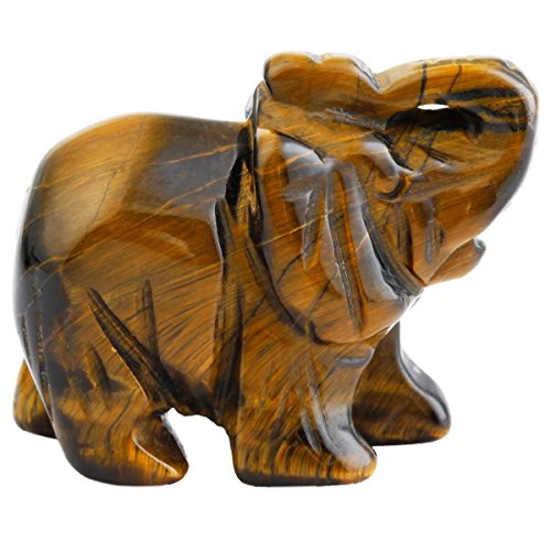 """Natural Jade Elephant Statue Ornaments Crafts Healing Crystal Stone Carved Figurine,Elephant Pocket Stone Figurines Gift for Home Decorate Office Figurine Decor 1.5"""""""