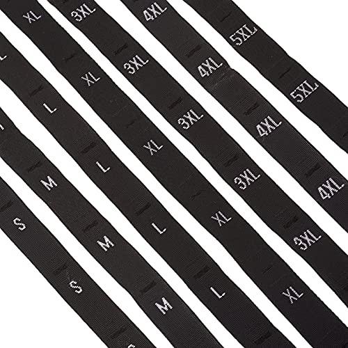 PandaHall 8 rollos de tamaño de etiqueta de ropa etiquetas de tallas S/M/L/XL/XXL/3XL/4XL/5XL etiqueta bordada etiqueta de ropa para coser en ropa camiseta abrigo