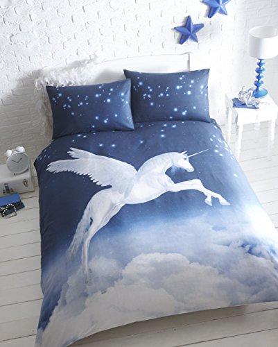 Bedmaker Unicorn King Size Flannelette Duvet Cover Set